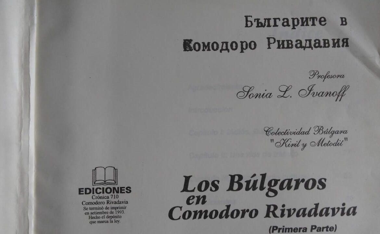 Los búlgaros en Comodoro Rivadavia, libro de Sonia L. Ivanoff